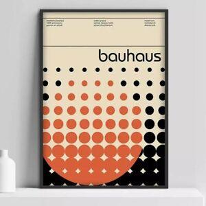 Bauhaus Art Exhibition poster, Bauhaus Exhibition Wall Decor Poster, no Framed