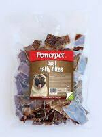 Powerpet Beef (Esophagus) Taffy Bites Dog Chew Treats - 8oz.-BRC Certified