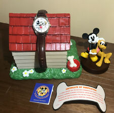 """""""75 YEARS OF LOVE & LAUGHTER""""  MICKEY & PLUTO WATCH DOG HOUSE & FIQURE 232/1800"""