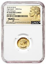 2018-W $10 Gold American Liberty High Relief NGC PF70 Early Release JEPPSON SIGN