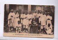 Carte postale MADAGASCAR. Mgr Givelet chez les lépreux.