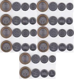 Cambodia - 5 pcs x set 4 coins 50 100 200 500 Riels 1994 UNC Lemberg-Zp