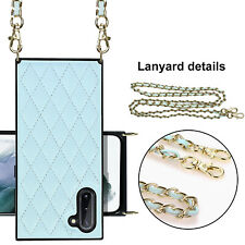 Leather Crossbody Case For Samsung Note10, BackCase + Chain Strap, Phone Purse