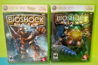 Bioshock 1 + 2 I II Bio-  XBOX 360 Games Rare Lot Complete w/ Manuals + Inserts
