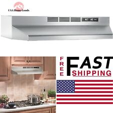"Range Hood 30"" Stainless Steel Kitchen Non Vented Under Cabinet Recirculating"
