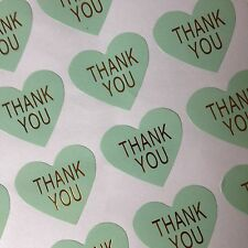 X64 Heart Thank you Label Seal Stickers - Craft, Weddings. Thank you For Order