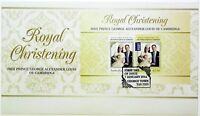 "2014 FDC Australia. Royal Christening. M.S. Pict.FDI ""GEORGE TOWN"""