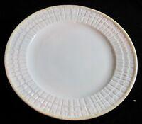"""Belleek LIMPET YELLOW 8 1/4"""" Salad Plate, Gold Mark"""
