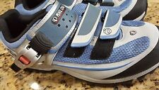 NEW Pearl Izumi Athletic Cycling Shoes grey blue black very nice decorative 8.5