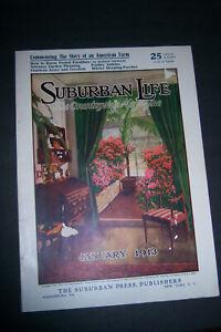 SUBURBAN LIFE January 1913 The Countryside Magazine American Farm Lozier