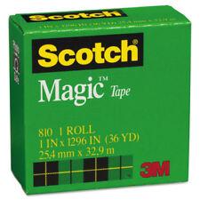 Scotch 3M Magic Tape, 1'' x 1296''  (36 yard) , 1'' Core, Clear 021200073793