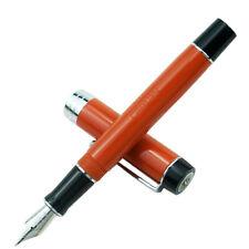 Red Jinhao 100 Centennial Resin Fountain Pen Ef/F/M Bent Nib Writing Gift Pen