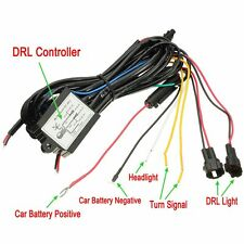 DRL Daytime Running Light Dimmer Dimming Relay Control Switch Harness 12V On-Off