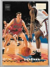 John Paxson 1993-94 Topps Stadium Club 1st Day Issue w/ Michael Jordan in back