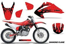 Honda CRF 150/230F Graphic Kit AMR Racing Decal Sticker Part 03-07 D FLAME BLK R