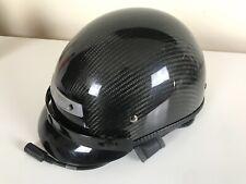 J&M Corp Motorcycle Motorbike Intercom Headset w/ Carbon Fiber DOT Helmet