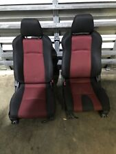 2003-2008 NISSAN 350Z NISMO SEATS OEM ORIGINAL DRIVER AND PASSENGER RED BLACK