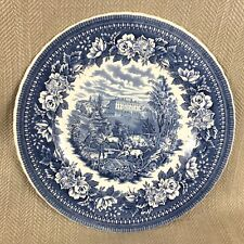 Aynsley Ironstone Charger Plate Blue & White Fox Hunting Hounds Equestrian
