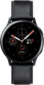 Samsung Galaxy Watch Active 2 44mm STAINLESS STEEL Case with Black Strap GPS