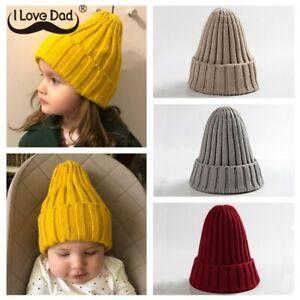 Knitted Kids Beanie Cap Infant Baby Boy Enfant Bonnet Muts Toddler Girls Winter