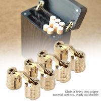 4Pcs 8mm Brass Cabinet Hidden Barrel Hinge Hinge Concealed Worktop