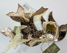 Brown Glass Mirror Bird  Ornaments Set of 3 by Midwest CBK
