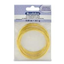 Beadalon Gold Plated Memory Wire Bracelet-1/2-Ounce/Pkg, Approx 30 1 Pack