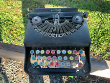 Original 1938 Remington Model Bantam Vintage Typewriter Multicolor Keys w/ Case