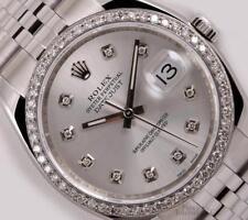 Rolex Men Datejust 116234 Steel 36mm Jubilee-Diamond Bezel-Silver Diamond Dial
