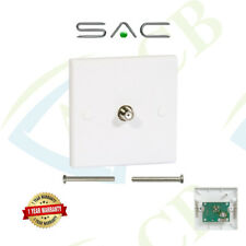 SAC Single F Type Wall Socket Faceplate Coaxial Satellite TV NTL SKY - AE0091