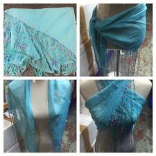 ladies girls chiffon beach wrap scarf sarong cover up (one size 6-18) 9 colours