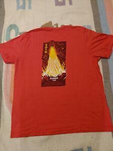 Phish 2018 Godzilla Summer Tour Men's XL Red T-shirt