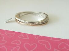 Brighton Neptune's Rings Narrow Bangle Bracelet JF2081 RTLS Silver Gold