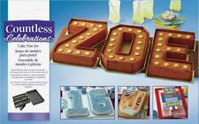 Wilton Countless Celebrations Number Letters Cake Pan Tray Tin Non-Stick Set