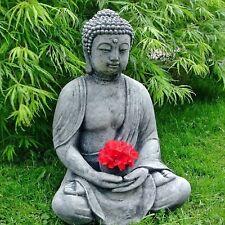 BUDDHA Feng-Shui Shiva Steinfigur massiv Steinguss Teelichthalter Frostfest 39cm