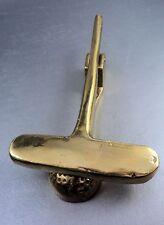 Vintage Brass Door Knocker Gold Club and Ball