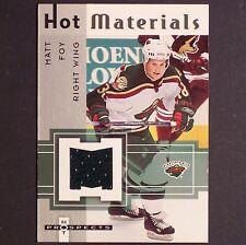 MATT FOY Rookie Jsy 2005-06 Fleer Hot Materials #HMMF Minnesota Wild rc