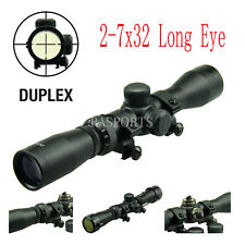 Long Eye Relief Scout Scope 2-7x32 w/ weaver Scope Rings & Covers