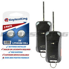 2x Replacement for 2003-2011 Porsche Cayenne KR55WK45032 Car Flip Key Fob Remote