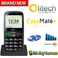 OLITECH EASY MATE+ 3G UNLOCKED MOBILE PHONE SENIORS ELDERLY HEARING AID LARGE