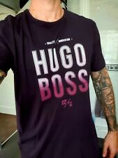 Hugo Boss T Shirt Top Red Maroon Purple XXL Used Excellent Cond - WAS £100