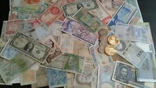 World Old Paper Money Lots 75 Bank Notes Coins and Commemorative Coins!