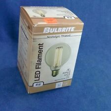 Bulbrite 4W Nostalgic Thread Antique #776500 BOX G25 120 V Medium Base #26 350L