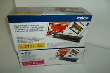 LOT-2 Brother TN-210M TN-210Y Magenta Yellow Toner Cartridges 1.4K DCP-9040 NEW