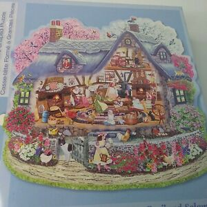 """Bits And Pieces 300 Piece Large Piece Puzzle """"Kelly's Blossom Cottage"""" Sealed"""