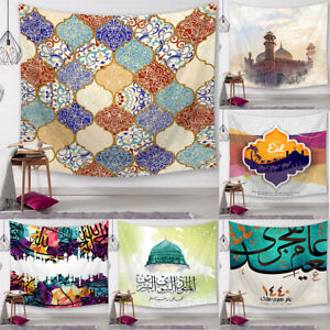 Muslim Ramadan Tapestry Islamism Eid Wall Hanging Art Home Party Decor Blanket