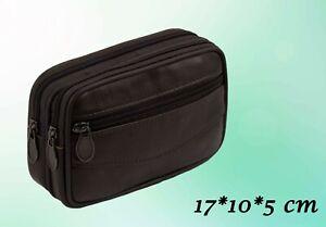 Herren Tasche Echtes Leder Gürteltasche Braun 17 * 10 * 5 cm