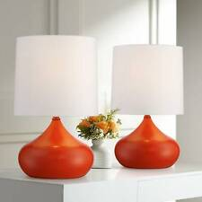 Mid Century Modern Accent Lamps Set of 2 Small Orange for...