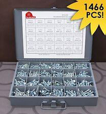1466 Piece Hex Washer Head Tek Self Drilling Screw Zinc Assortment Kit 139