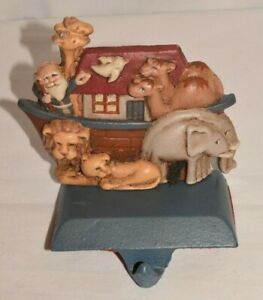 Midwest of Cannon Falls Noah's Ark Cast Iron Christmas Stocking Hanger Holder